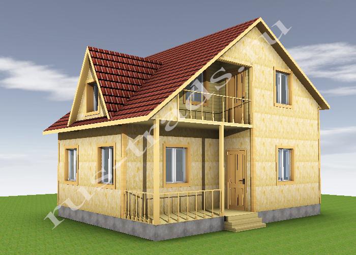Дома 6х8 с балконом.